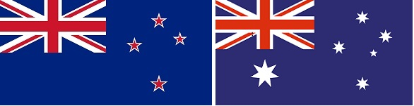 New Zealand & Austlaria Flags